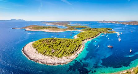 Widok z lotu ptaka wysp Paklinski w Hvar, Chorwacja