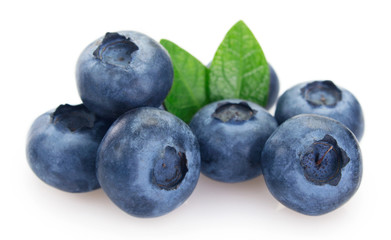 Fresh blueberry on white background