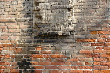 Old brick wall. Background for interior design.