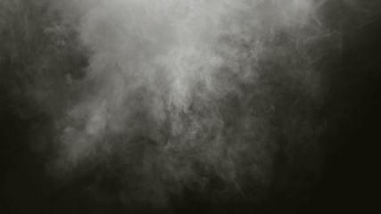 białe mgiełki dymnego powietrza