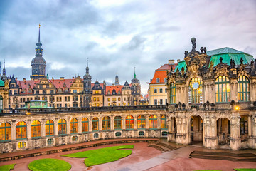 Zwinger Palace in historical center of the old city of Dresden. Saxony, Germany.