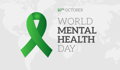 World Mental Health Day Background Illustration Banner
