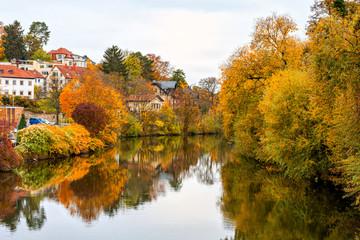Herstliche Stadtlandschaft in Bamberg an der Regnitz