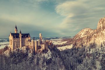 Neuschwanstein Castle in winter, Germany.