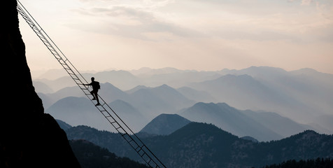 Courageous climb for high altitude mountaineering and professional climber