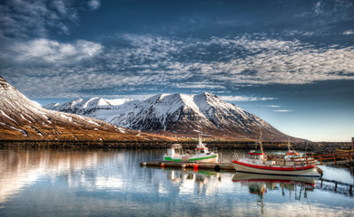 Fishing port in Olafsfjordur - Iceland