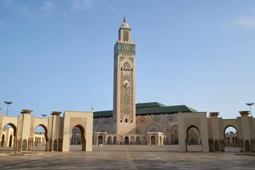 The Hassan II Mosque in Casablanca, Morocco.