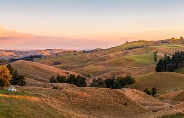 Sunset over Te Miro, New Zealand