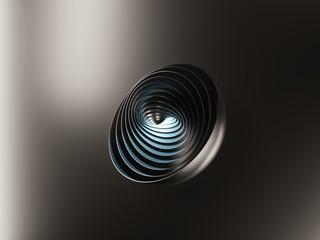 3d abstrakcjonistyczna minimalna nowożytna półkula, piłka, odosobneni przedmioty, 3d ilustracja