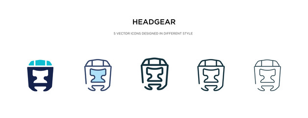 headgear icon in different style vector illustration. two colored and black headgear vector icons designed in filled, outline, line and stroke style can be used for web, mobile, ui