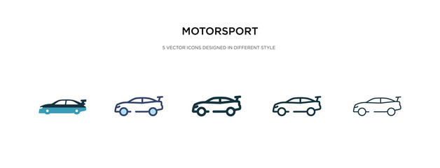 motorsport icon in different style vector illustration. two colored and black motorsport vector icons designed in filled, outline, line and stroke style can be used for web, mobile, ui