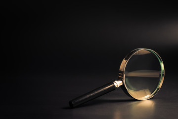 Magnifying Glass on Black