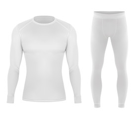 Thermal cloth for winter. Pants and shirt clothing