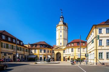 Herrieder Tor, Ansbach, Bayern, Deutschland