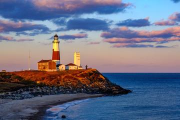 Montauk lighthouse at sunset