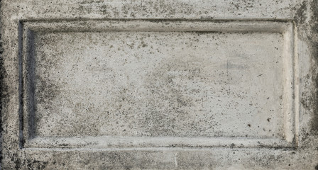 gray stone wall concrete with stone tablet, marble cement wall with space for text, stone tablet for background and texture