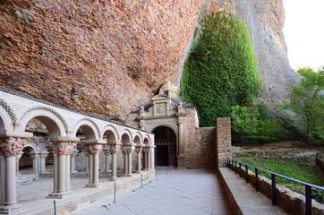 Cloister of old monastery of San Juan de la Pena, Huesca province, Aragon, Spain