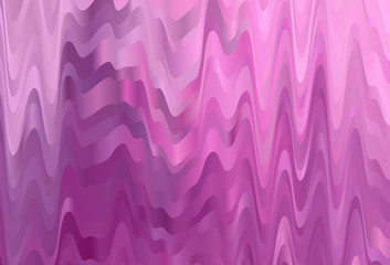 Light Pink vector pattern with wry lines.