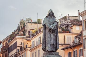 Statue of Giordano Bruno erected at Campo de' Fiori in Rome