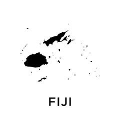 Fiji map vector design template