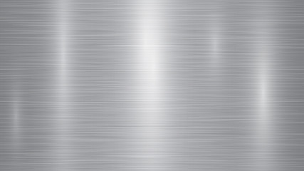Abstract metal background with glares in gray colors
