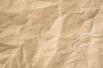 Recycle brown paper crumpled texture, Old paper surface for background.