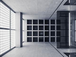 Architecture details Concrete building Glass wall minimal design interior