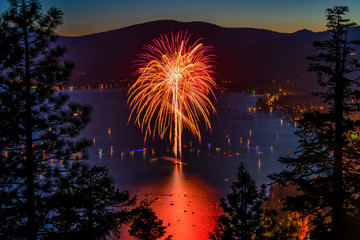 Firework Over Lake Tahoe
