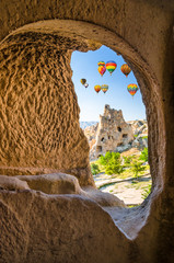 Beautiful rocks in Goreme national park, Cappadocia, Turkey