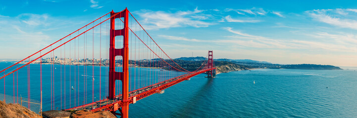 Golden Gate Bridge panorama, San Francisco California