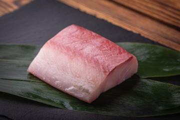 hamachi, raw yellowtail sashimi block