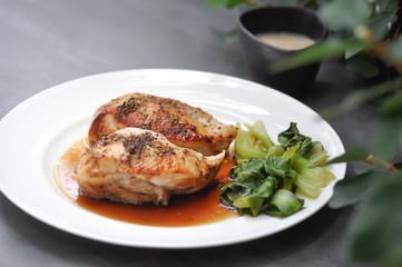 grilled chicken or chicken steak