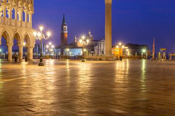 Venice. St. Mark's Square at dawn.