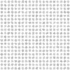 Gray flower pattern. Seamless vector background