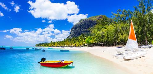 Water sport activities in beautiful Mauritius island