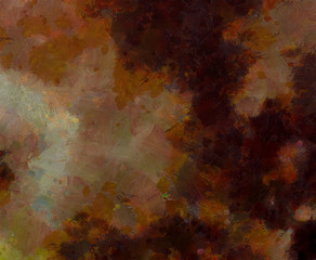 Abstract grunge texture background. Stock abstraction art on canvas. Realistic beauty digital painting. Amazing simple design pattern for backdrop. Macro template in oil. Splashes of paint.