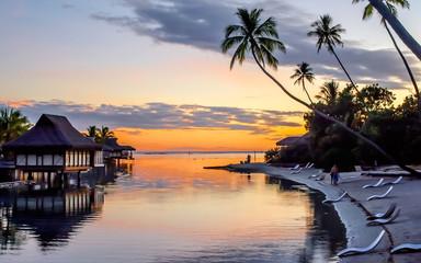 Tropikalny zachód słońca, Polinezja Francuska