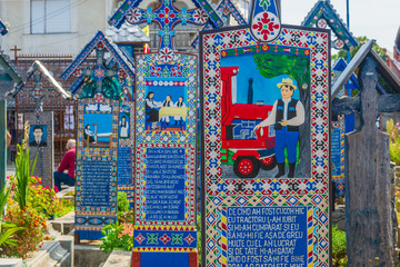 Merry Cemetery of Sapanta, Romania, Europe