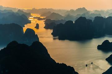 Aerial view of Ha Long Bay, Vietnam