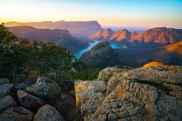three rondavels and blyde river canyon at sunset, south africa 52