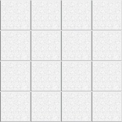 Abstract seamless square pattern. Marble tile floor. Gray white ceramic tiles wall modern style. Design geometric mosaic texture for the decoration of the bathroom, vector illustration