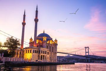 Famous Ortakoy Mosque at sunrise, Istanbul, Turkey