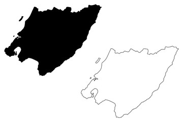 Wellington Region (Regions of New Zealand, North Island) map vector illustration, scribble sketch Greater Wellington map....