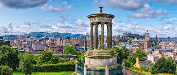 Panorama Edynburga w Szkocji o wysokiej rozdzielczości 84 MP