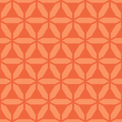 Vector colorful seamless geometric pattern. Bright simple texture. Repeating abstract orange background with creative shapes