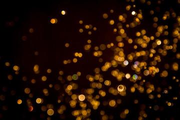 Defocus bokeh glitter gold vintage lights dark