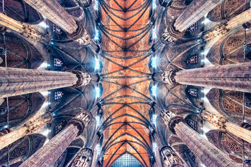 Ceiling of the cathedral of Milan, Italy
