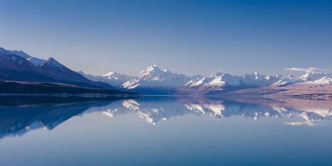Mt Aoraki and Lake Pukaki in New Zealand