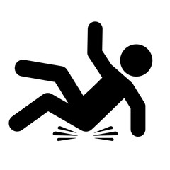 Slip and fall vector icon