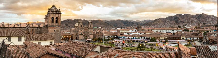 Widoki kolonialnej części miasta Cusco w Peru, Ameryka Południowa